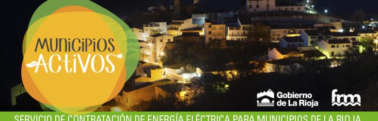 Municipios activos, energía eléctrica de municipios de la rioja